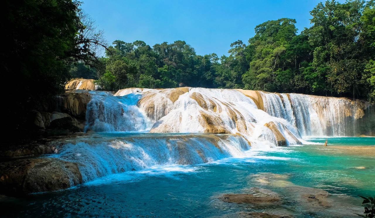 agua azul mexique cascade