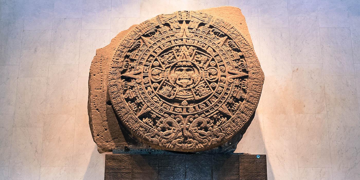 La Pierre du Soleil un des oeuvres les plus emblématique de l'art Aztèque