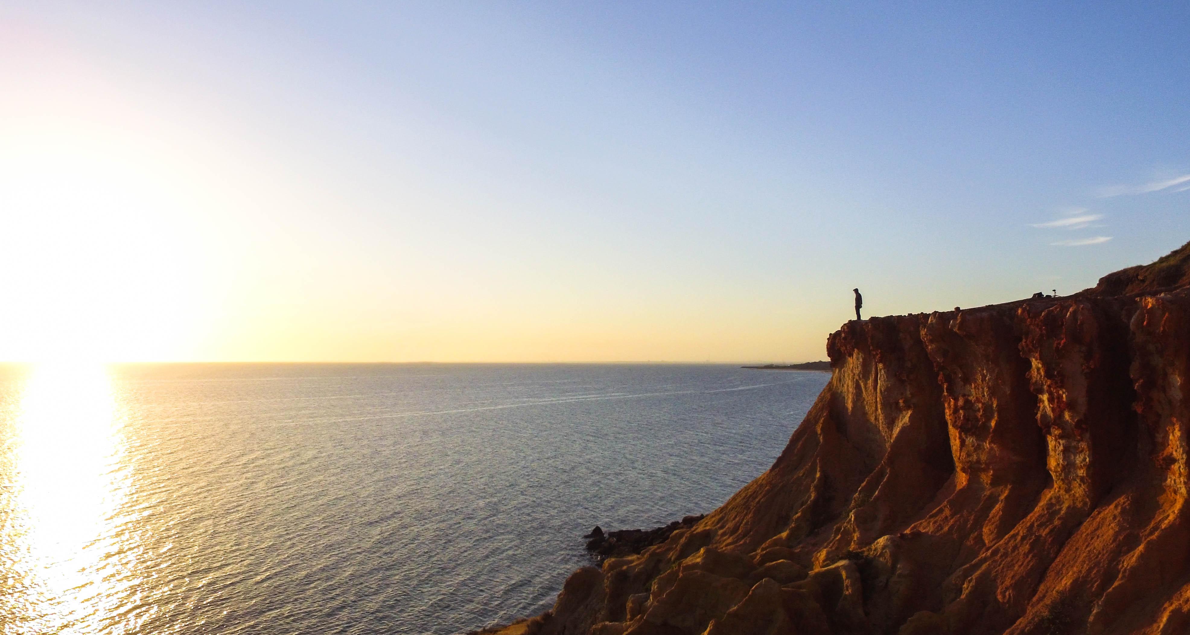 Half moon bay cliffs