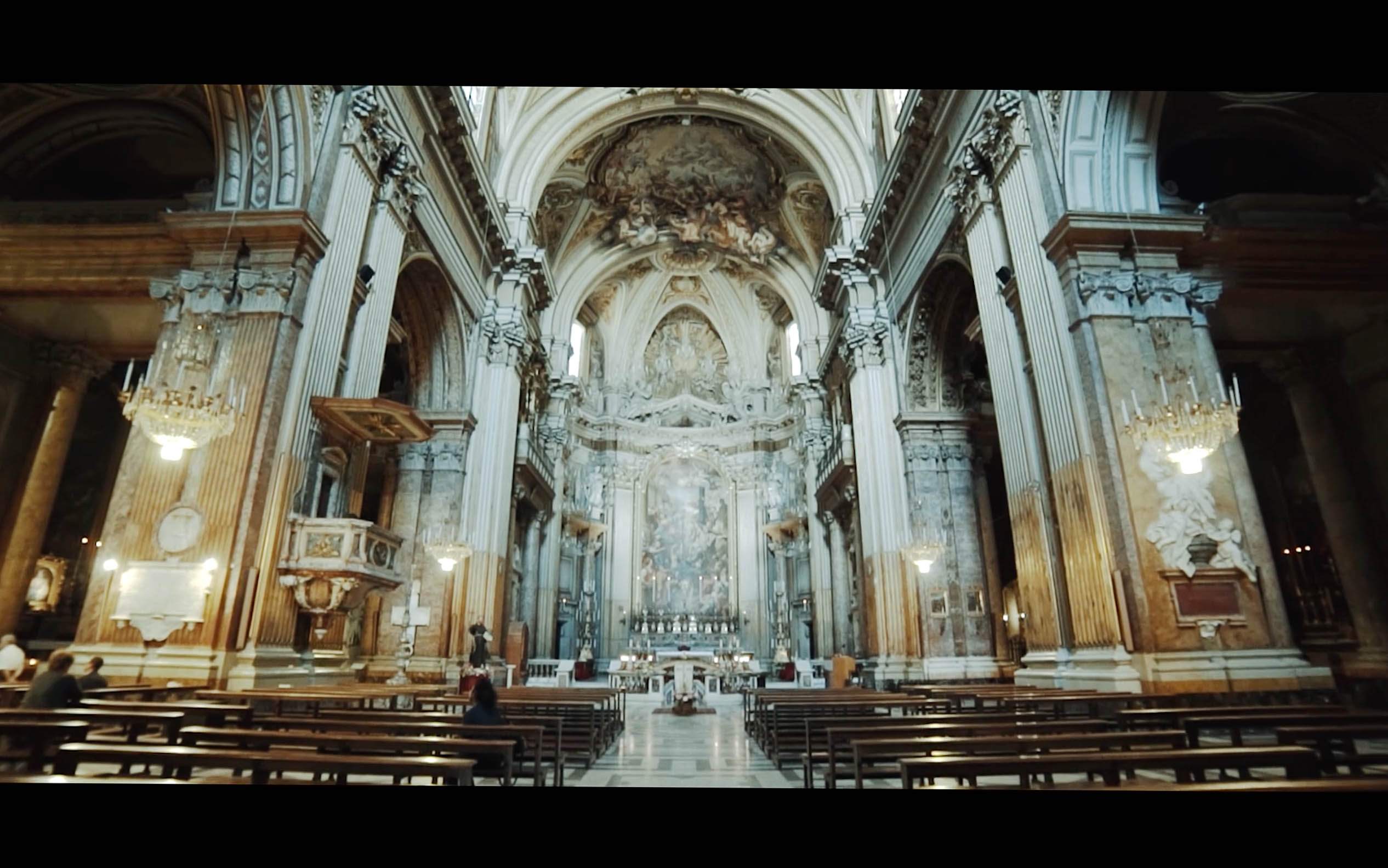 rome eglise saints apotres interieur